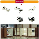 10/20/25 Pieces New Closet Automatic LED Hinge Light Closet Cabinet White Intelligent Induction Lamp