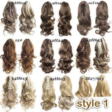 3 Styles 15.7''/23.6''inch Curly Ponytails Extension Fashion Long Wavy Hair Braid Hair Chignon Clip in Hair Extensions Cosplay Wigs for Women