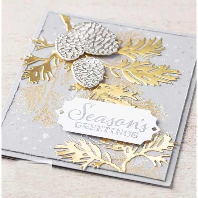 Pine cone Stamps and Cutting Dies Metal Cutting Dies and stamps DIY Scrapbooking Card Stencil Paper Craft Handmade