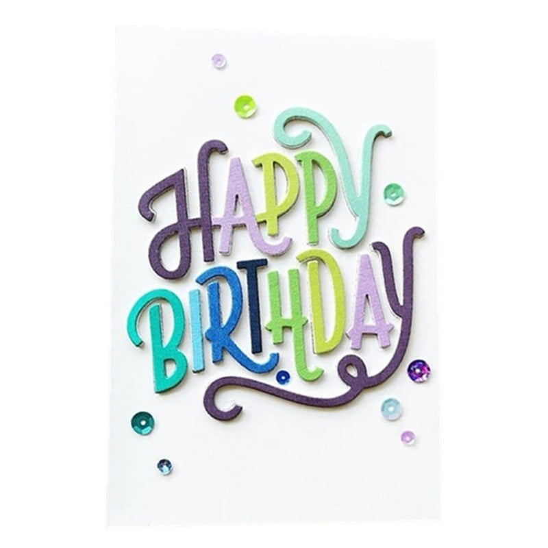 Happy Birthday Letter Embossing Cutting Dies DIY Card Scrapbooking Stencils