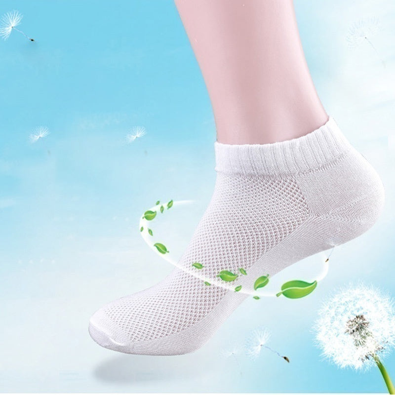 2/5/10 Pairs Men Cotton Short Socks White Black Gray Breathable Ankle Boats Sock Low Cut Sport Socks Casual Socks IYI