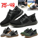 Men Outdoor Ryder Work Shoes Breathable Steel Toe Safety Boots Puncture-Proof Indestructible Sicherheits Schuhe