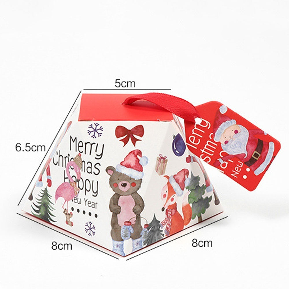 5/10PCS Creative Merry Christmas Candy Box Bag Christmas Tree Gift Box Paper Box Gift Bag Container Supplies