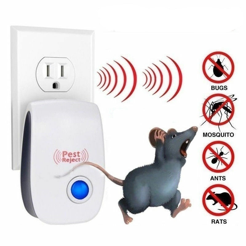 2/4/6 Pack Ultrasonic Pest Repeller Control Electronic Repeller Mosquito Mice Rat Reject Insect Roach Ant Spider Flea Killer (US/UK/EU/AU Plug)