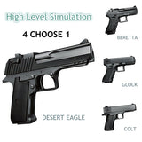1Set High level Simulation Pistol whole Black BB Gun toy include soft bullets pack by a finely suitcase as gift for kids