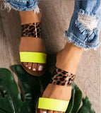 New Women's Fashion Shiny Sandals Beach Casual Round Head Sandals Flat Slippers