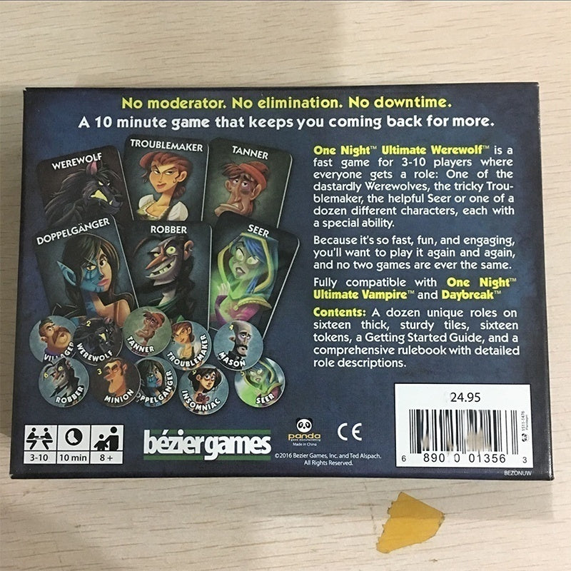 Latest One Night Ultimate Werewolf / Alien English Cards Board Game for Party Family Fun