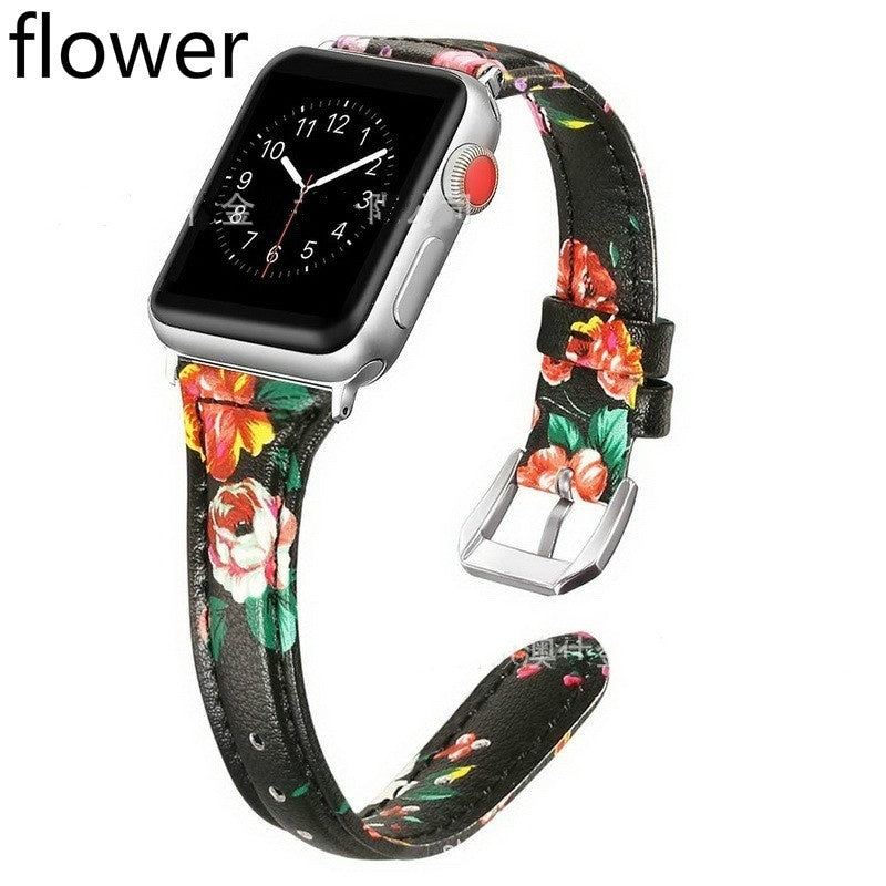 2019 Leather Watchband for Apple Watch Band  38mm 42mm 40mm 44mm  Replacement Bracelet Strap Band for iwatch Series 4 Series 3  Series 2  Series 1