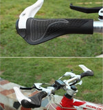 Bicycle Lock-On Handlebar Grips With Bar Ends
