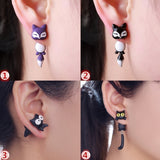 1 Pair hot Fashion Cute Lovely Handmade Creative Unique Jewelry Women Lady Girl Polymer Clay Soft Cute Animal Dinosaur Dog Cat Fox Pottery Earrings Animal Piercing Ear Stud Earring Party Gifts Accessories