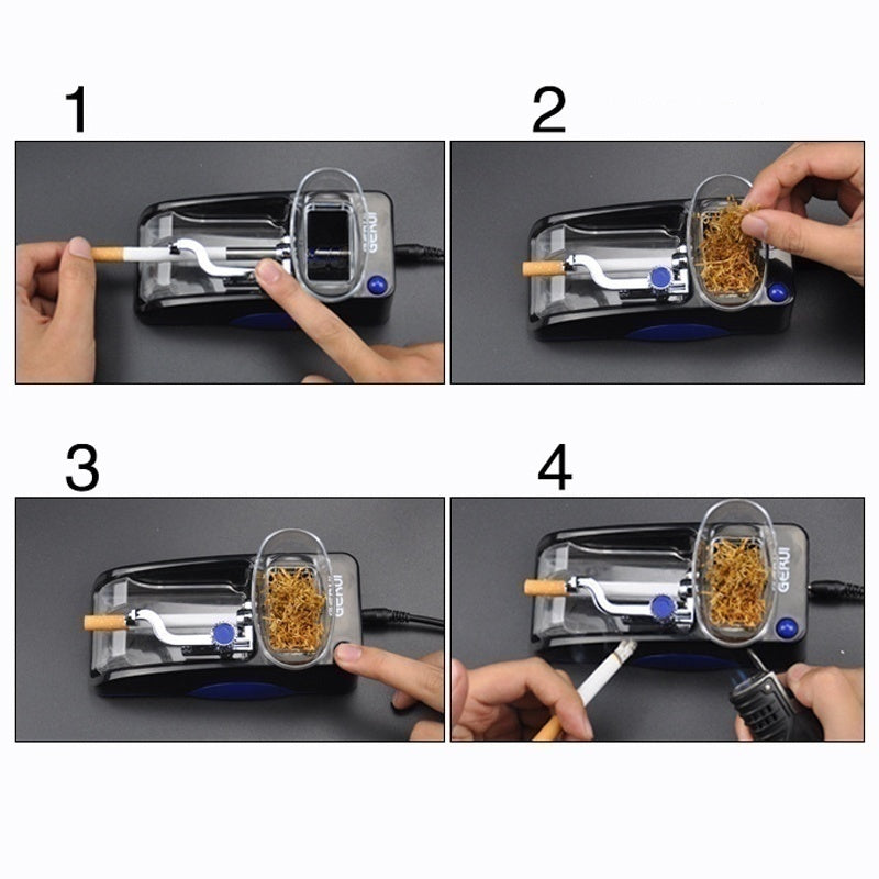 1PCS Electric Tobacco Cigarette Rolling Roller Automatic Injector Maker Machine Device Easy Automatic Cigarette Rolling Machine Tobacco Roller