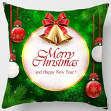 New Christmas, snowman, double-sided printed pillowcase, home decoration, car sofa cushion cover (45cm * 45cm)