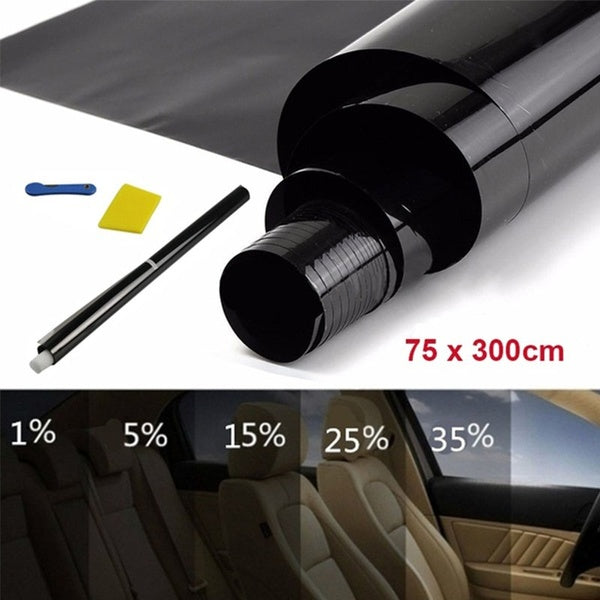 35%/25%/15%/5% Light Transmittance Car Window Thermal Heat Insulation Film Glass Explosion-Proof Shading Film