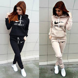Women's Fashion 'BREAK IT 'Printed Hoodie + Pants Set  Casual Trousers Tracksuits Sportsuit