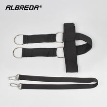 Load image into Gallery viewer, ALBREDA Cowhide head and neck  weight Lifting grip bearing cap The shoulder muscle Weight Training Can bring Weight plate
