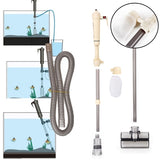 Electric Fish Tank Gravel Cleaner Aquarium Filter Siphon Kit For Aquarium Vacuum Gravel Cleaner With Durable Filter Bag Water Changer Sand Washing For Big And Small Tank