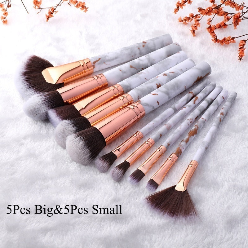 5/10Pcs Classic Marble Makeup Brush Set Professional Face Eye Makeup Brushes Women Makeup Tool Accessories