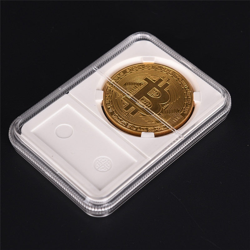 Acrylic Coin Holder Protector Collection Box Coin Storage Box Case