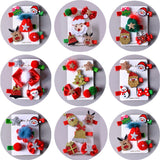 5Pcs/Set Christmas Gifts Snowman Stocking Girls Hairclips Hair Ornament Santa Claus Elk Barrettes Children Hairpins Hair Accessories Christmas Hair Clips Set