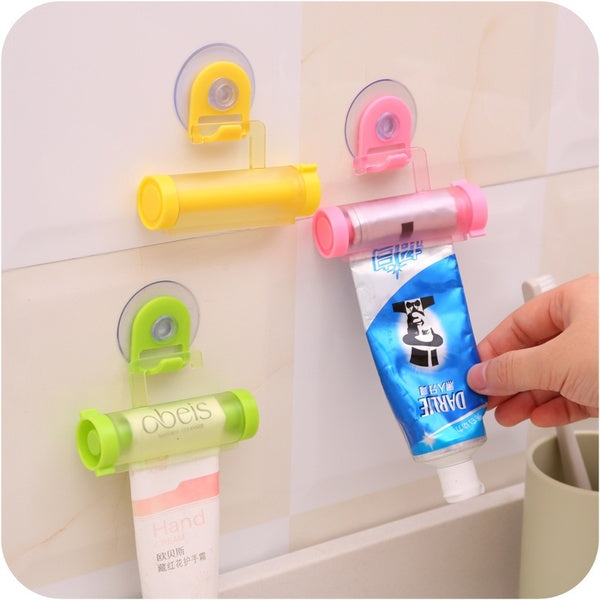 Plastic Rolling Tube Squeezer Useful Toothpaste Easy Dispenser Bathroom Toothpaste Holder Bathroom Accessories