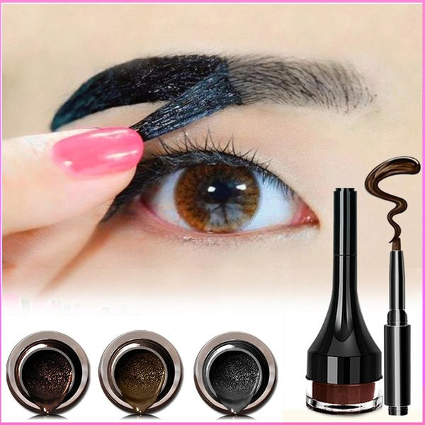 Tcare 1Pcs 3g Tattoo Eyebrow Paste Long Lasting, Women Peel Off Waterproof Eyebrow Cream (Light Brown, Coffee Brown, Gray Black)