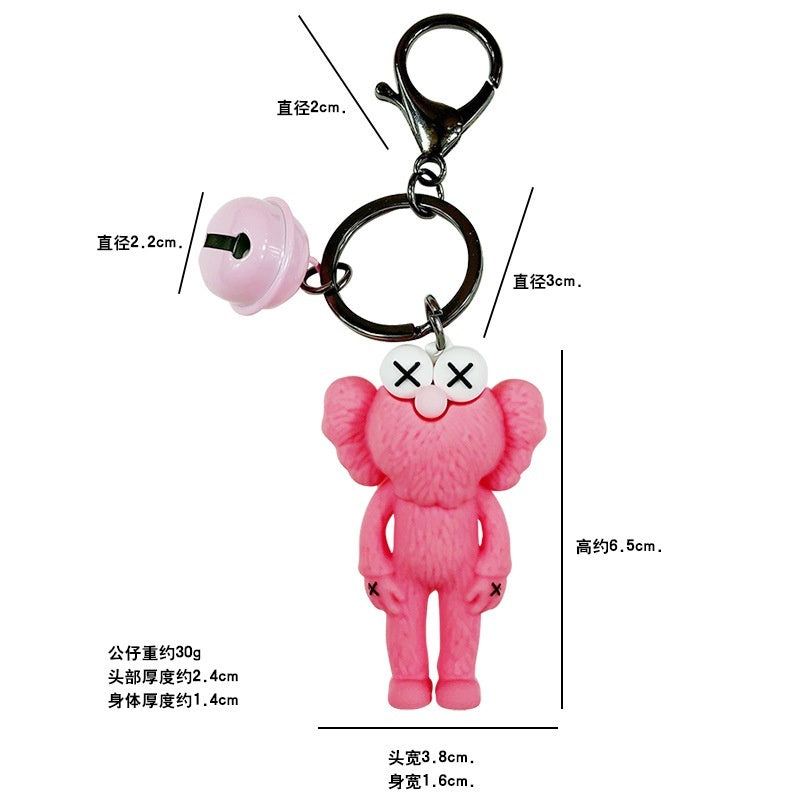 2019 Cute KAWS Doll Pendant Key Chain Key Ring Schoolbag Bag Decoration For Young Peple