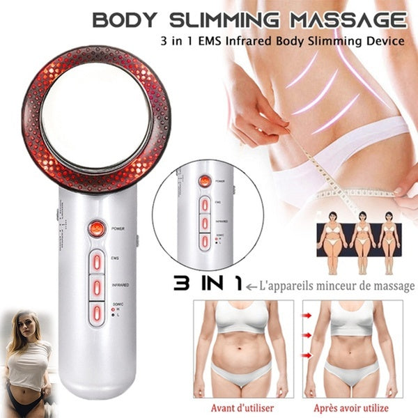 The New Upgrade 3 In 1 Beauty Apparatus Infrared Ultrasonic Slimming Kit Anti-Cellulite Infrared Therapy Massage Tools Infrared Ultrasonic Slimming Kit Body Face Lift Tools