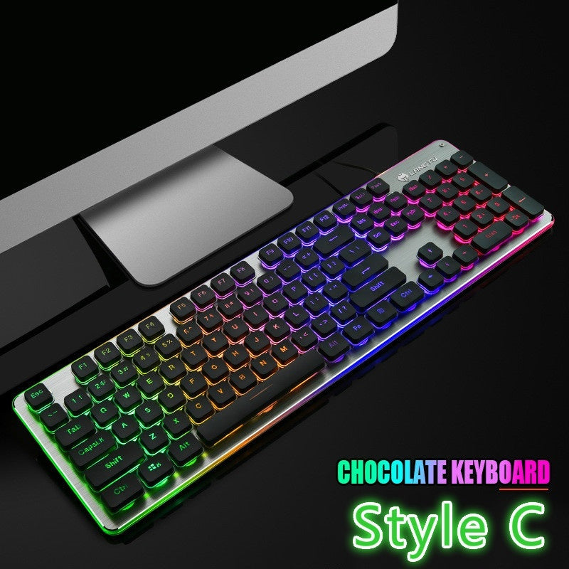 New LED 104 Keys USB Gaming Keyboard  Ergonomic Wrist Rest Keyboard, for Windows PC Gamer Desktop and Laptop Computer ,nice Gift for Him or Her