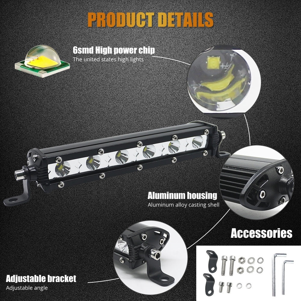 Work Light High Power OVAL LED Lights For Auto Car Motorcycle Truck Trailer 4WD 4X4 ATV SUV Headlight Spot Flood Driving Light