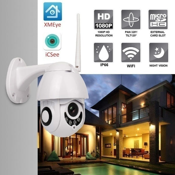 New IP Camera Onvif WiFi 2MP HD1080P Wireless Speed Dome CCTV IR Camera Outdoor Security Surveillance NetCam IP Camera