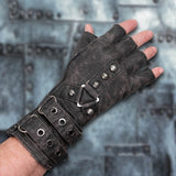 Men Fashion Outdoor Camping Steampunk Driving Motorcycle Biker Fingerless Gloves Mens Gloves Gift Sport Fingerless Gloves