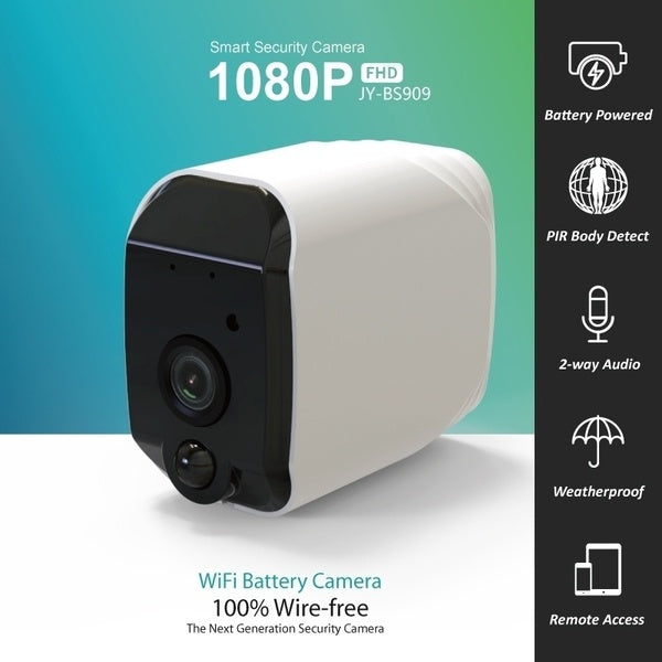 New Wireless 2.0 MP Home Security Camera 1080P Full-HD Powered By Rechargeable Battery(Selectable)