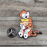 C699 Tiger Enamel Pins Metal Cute Collar Pins and Brooches for Women Brooch Jewelry Lapel Pin Badge