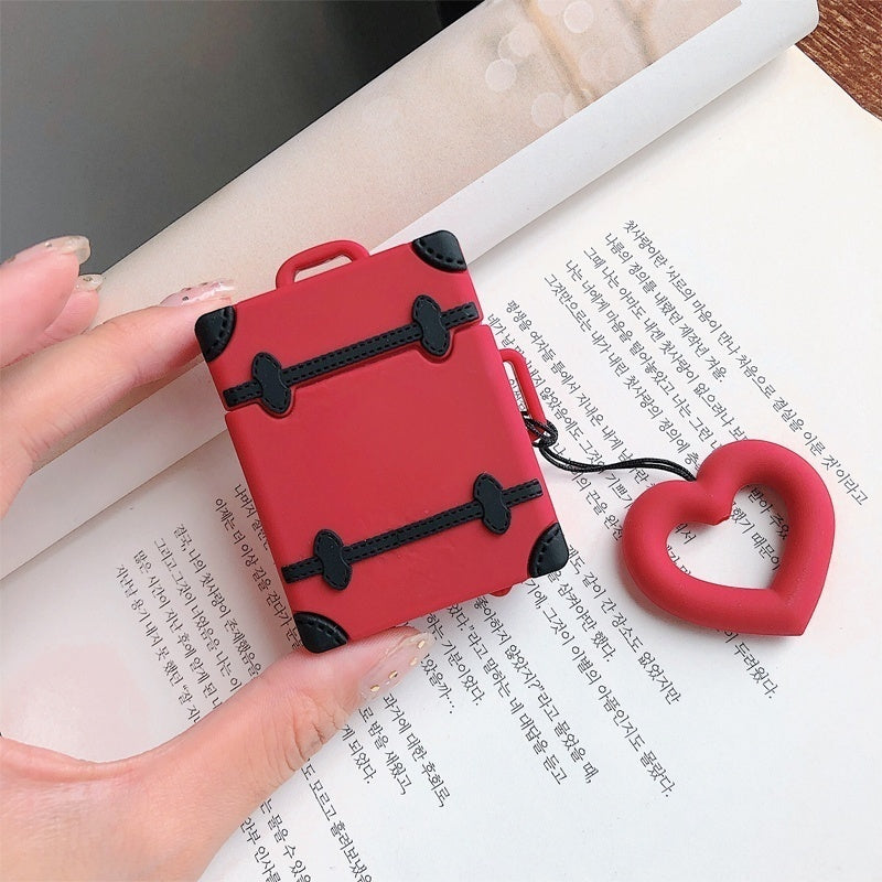 Cute Cover For AirPods Case Suitcase Trunk Luggage Case For Apple Airpods 2 Earphone Protective