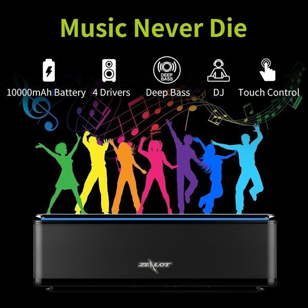 S7 3D Stereo Wireless Bluetooth Speaker Touch Control Soundbar 26W AUX TF Card Play 20h Playback With Microphone