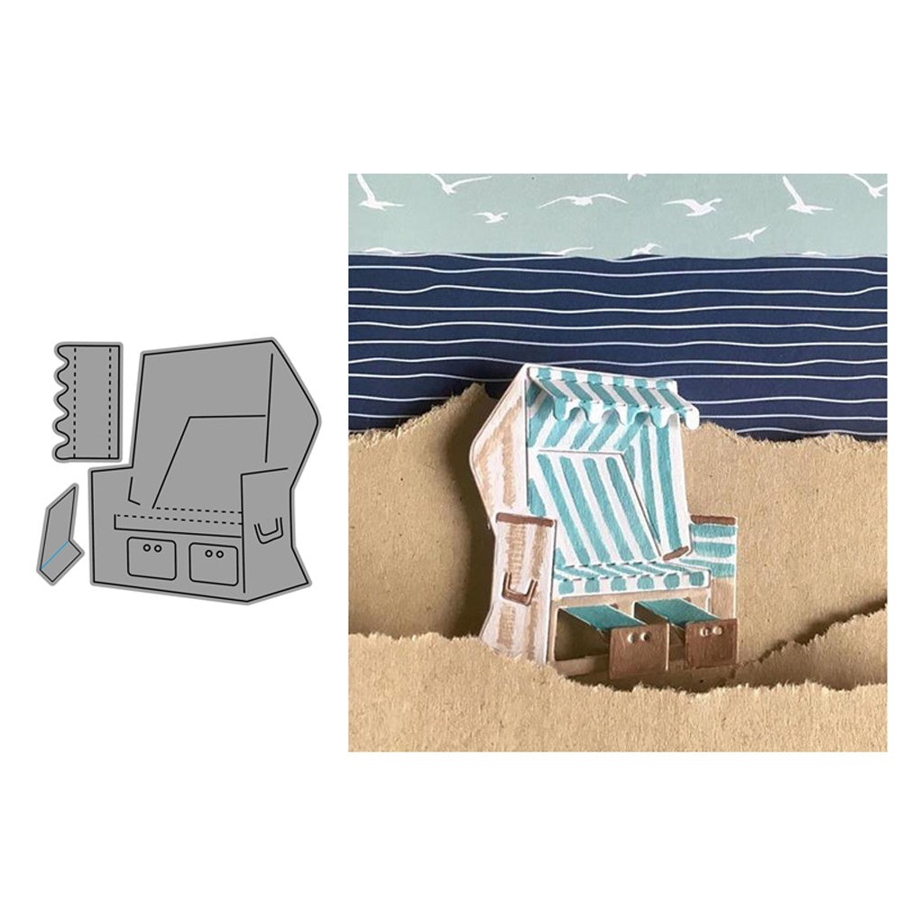 Beach Chair New Craft Metal Cutting Dies Scrapbooking Album DIY Paper Card Craft Embossing Die
