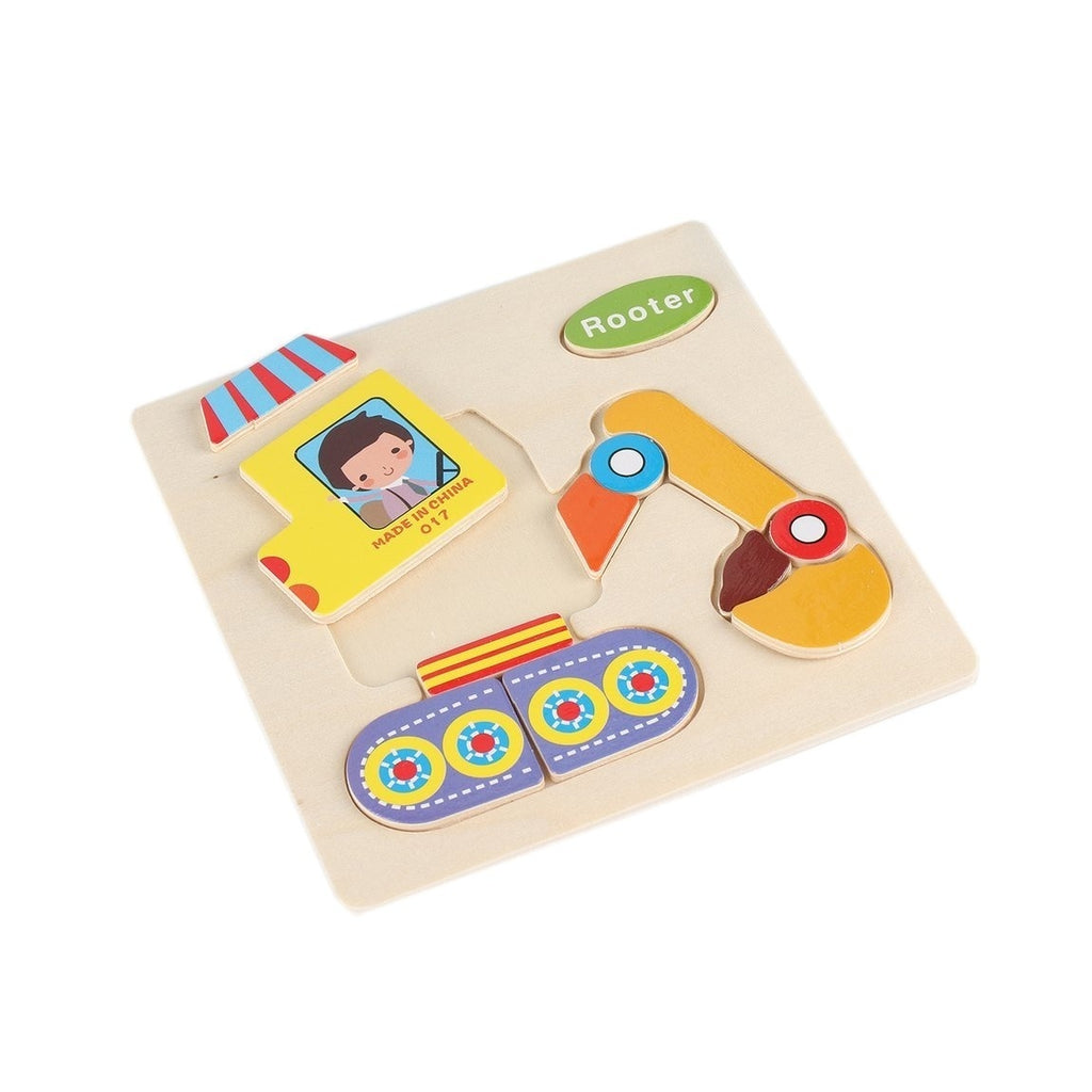 Kids 3D Wooden Puzzle Jigsaw Cartoon Animal Puzzles Kids Early Educational Toy
