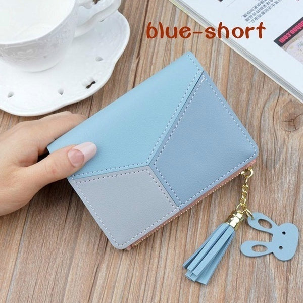 1 PC Geometric Wallets Phone Pocket Purse Card Holder Patchwork Women Short Long Large Capacity Wallet Lady Purses for Women
