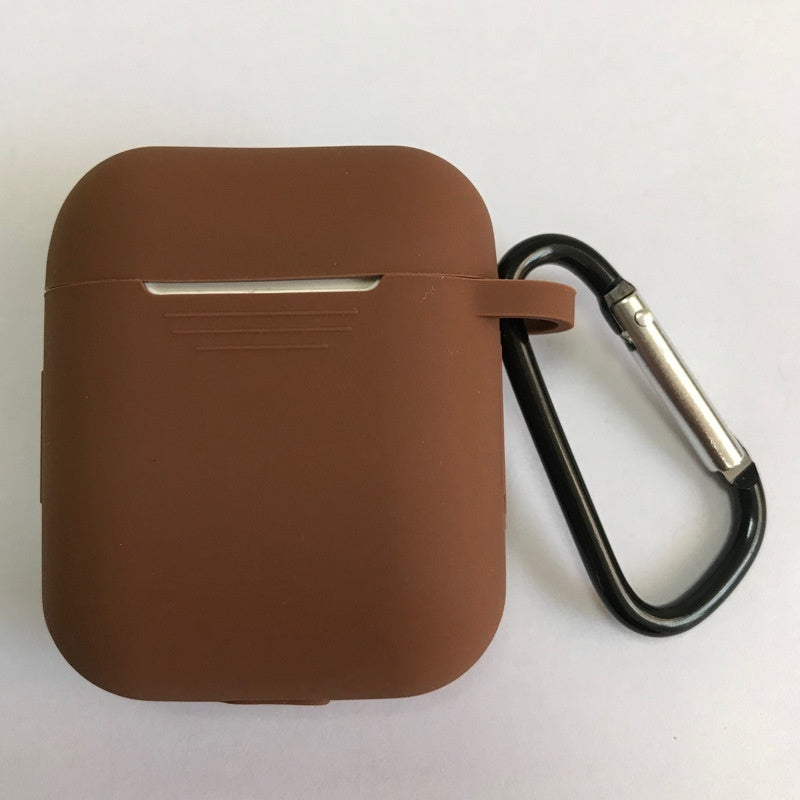 Dust-plug Silicone Case for AirPods Charging Case W/ Carabiner 17 Colors Airpods Case