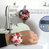Pumpkin Needle Pin Cushion Holder Wrist Pincushion DIY Craft Sewing DIY Supplies
