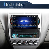 1DIN 7' HD Retractable Touch Screen Car Stereo Audio Bluetooth Car Radio Support Bluetooth/USB/AUX/FM/AM MirrorLink+ SWC+ Rearview Camera (Optional)
