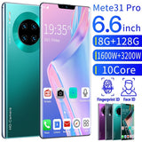 M31 Pro Smartphone Unlocked Smartphone 8GB+128GB Android Mobile Phone 4g Ultra-thin Phones Face/Fingerprint Cellphone Lock Dual SIM Cards MobilePhone Support T Card Smart Phones 10 Core