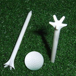 50 Pcs/set 70mm Multicolor Golf Ball Tee Outdoor Sports Golf Accessories