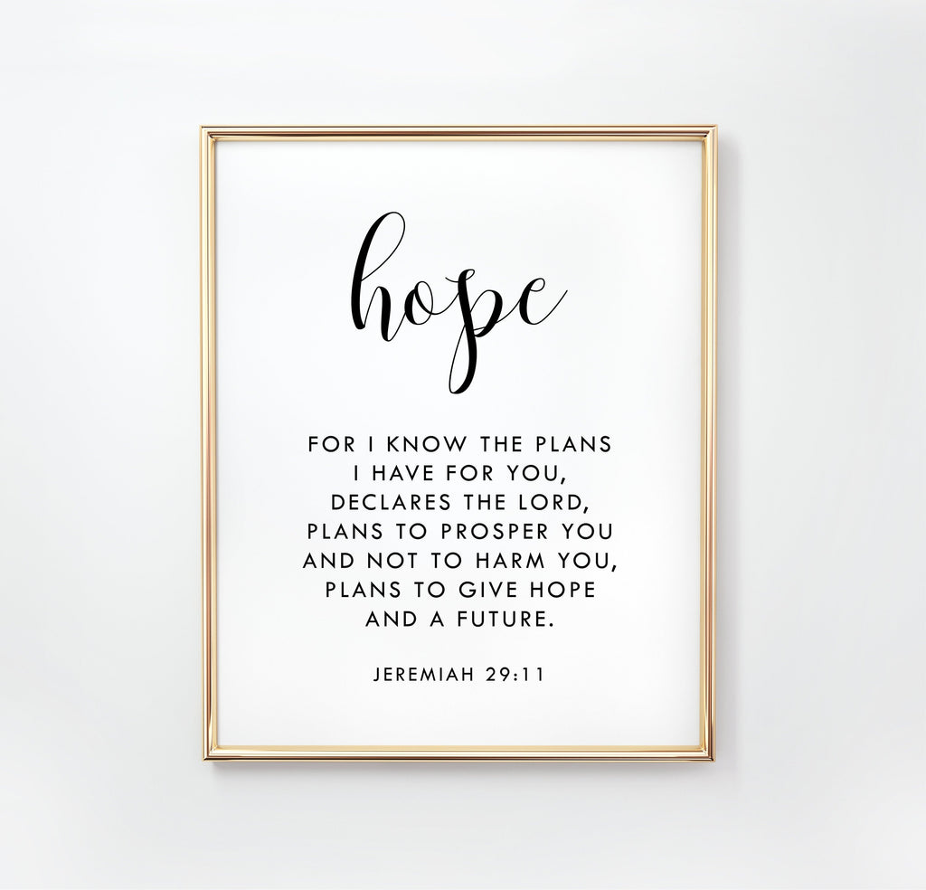 New Faith Hope Love Posters Bible Verse Quotes Paintings Room Decor One Canvas Wall Art Gifts for Living Room Decor Without Frames
