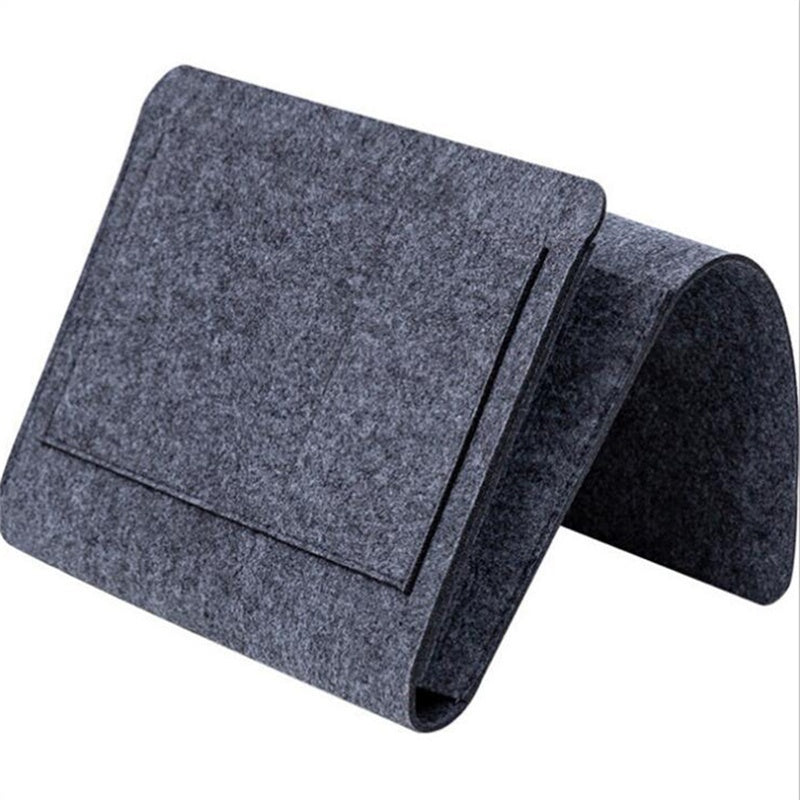1 Pc Felt Bedside Sofa Storage Bag Remote Book Mobile Phone Hanging Sundries Organizer Dormitory Storage Bag