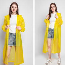 Load image into Gallery viewer, Non-disposable Transparent Raincoat Travel Outdoor Concert Poncho thinken