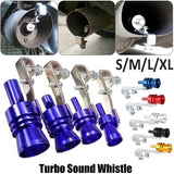 Universal Turbo Sound Simulator Whistle Car Exhaust Pipe Whistle Vehicle Exhaust Pipe Sound Muffler S/M/L/XL