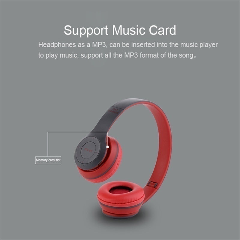 P47 Bluetooth 5.0  Headphones Stereo Headset Wireless Foldable Mic Earphone Earbuds