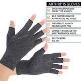 1 Pairs Arthritis Gloves Touch Screen Gloves Anti Arthritis Therapy Compression Gloves and Ache Pain Joint Relief Grey Winter Warm S M L