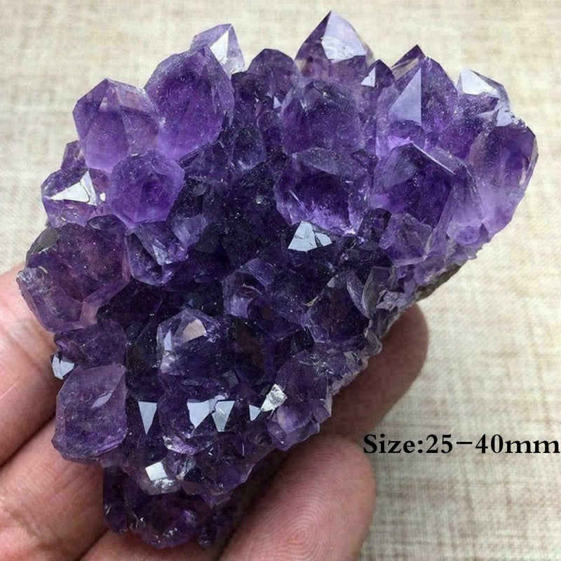 1PC Irregular Natural Raw Amethyst Geode Quartz Crystal Cluster Healing Specimen Home Decor Gifts